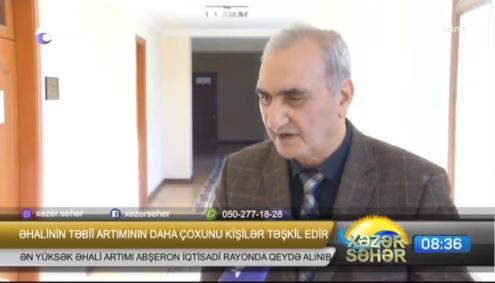 """Nizami Eyyubov """"Əhalinin təbii artımı"""".Xəzər TV, 17.01.2018."""