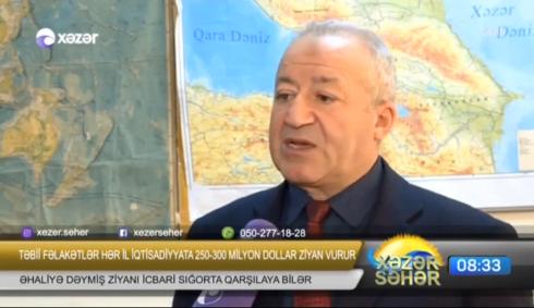 """Nəriman Paşayev """"Təbii fəlakətlərin vurduğu ziyanlar"""" Xəzər TV.23.01.2019"""