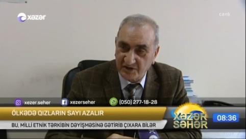 """Nizami Eyyubov """"Ölkədə qızların sayı azalır"""" 25.02.2019"""