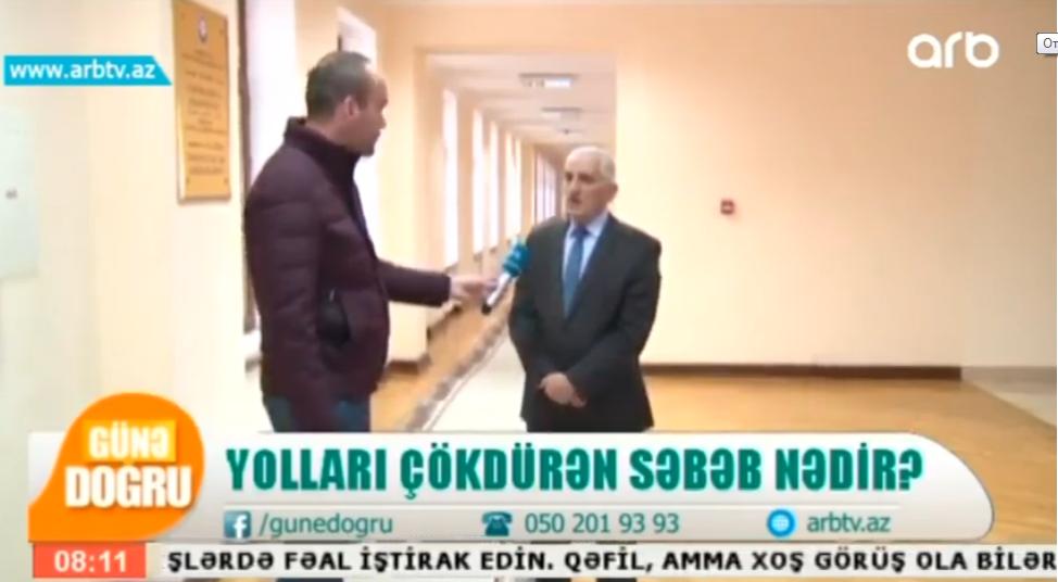 """Mirnuh İsmayılov: """"Yolları çökdürən səbəb nədir?"""" 7.02.19"""