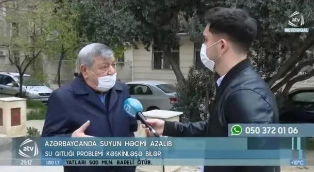 Ramiz Məmmədov quraqlıq haqqında ATV-yə müsahibə verib