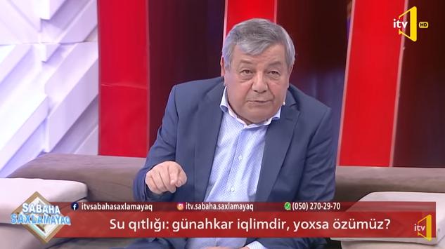 """Ramiz Məmmədov  İTV-də: """"Kür çayı quruyur:.."""" - 11.06.2020"""