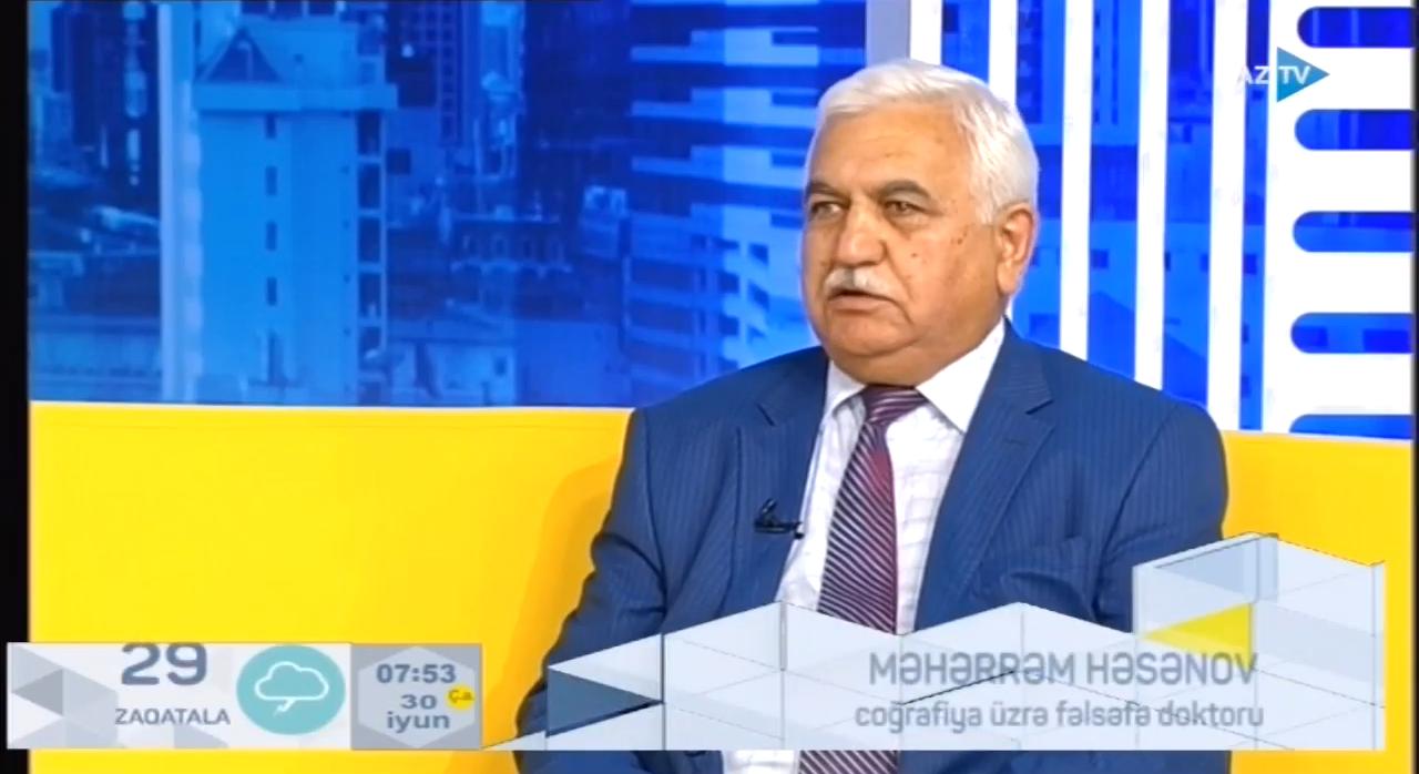 M.Həsənov Kür çayının səviyyəsi  haqqında AZTV-yə müsahibə verib