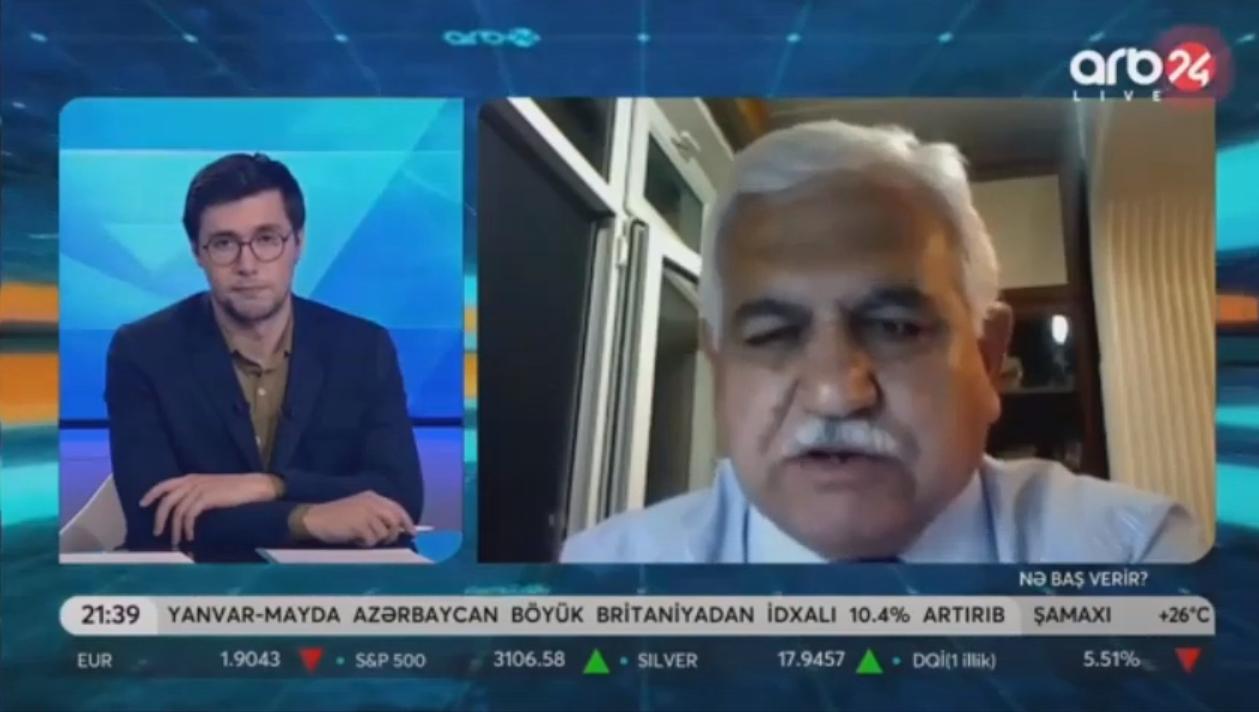 """M.Həsənov ARB24 kanalına proqramına """"Azərbaycanda sel və daşqın təhlükəsi""""haqqında müsahibə verib"""
