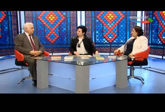 """M. Həsənov və M.Abbasova AzTV-nin  """"Keçmişdən gələcəyə""""  verilişində.aprel 2018"""