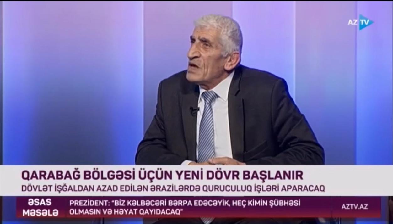 M.İsmayılov AZTV kanalında yayımlanan Əsas məsələ verlişində çıxış edib.